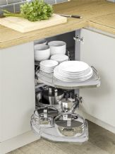 NUVOLA TWIN SHELF MAGIC CORNER  (Innostor Plus) - to suit 2 cabinet widths (ECF IPN71.900/1000/1200)